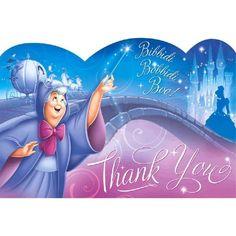 Cinderella Thank You Cards Disney Girls Birthday Party Supplies Decorations Disney Princess Party, Aladdin Princess, Princess Aurora, Princess Bubblegum, Cinderella Birthday, Custom Thank You Cards, Adventure Time Anime, Disney Girls, Girl Birthday