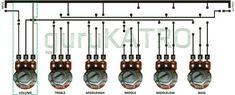 Merangkai Tone Control 5 Chanel | guruKATRO Hifi Amplifier, Loudspeaker, Electronic Circuit Design, Electrical Circuit Diagram, Power Supply Circuit, Electronics Projects, Chanel, Technology, Krishna