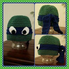 Crochet Hat - Teenage Mutant Ninja Turtle - Leonardo