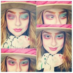 #madd hatter #makeup #alice in wonderland so cute! (Credit) @kateerrs on Instagram