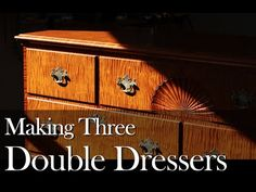 Double Dresser Build Process by Doucette and Wolfe Furniture Makers