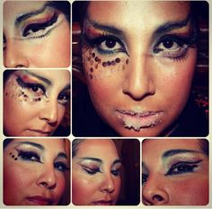 Extremely over the top creativity done by Shereen  #viziomakeupacademy