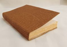 Light Brown Snake Skin Leather Bound Pocket Journal with Cream pages by SolitaireDesigns on Etsy