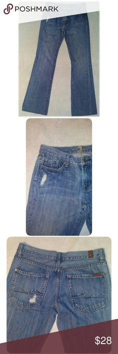 🔥Last Chance🔥 7 for All Mankind Flare Jeans 7 for all mankind jeans, flare.  Size 28.  Gently worn, no rips, stains or flaws. 7 For All Mankind Jeans Flare & Wide Leg