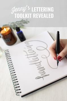 Maiedae ~ pinning this for the recommended tools for handlettering