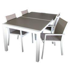 Helsinki-ruokaryhmä 4 tuolia, alumiinia
