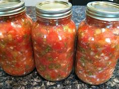 Ingredients:  1 can (28 Ounce) Whole Tomatoes With Juice  2 cans (10 Ounce) Rotel (diced Tomatoes And Green Chilies)  1/4 cup Chopped Onion  1 clove Garlic, Minced  1 whole Jalapeno, Quartered And Sliced Thin  1/4 teaspoon Sugar  1/4 teaspoon Salt  1/4 teaspoon Ground