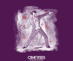 """HaHaHa"" by carlos_e_gil T-shirts, Tank Tops, V-necks, Sweatshirts and Hoodies are on sale until February 20th at www.OtherTees.com #joker #dc #dccomics #detectivecomics #othertees #batman #brucewayne #tshirts"