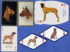 A Selection of Great Dane Dog Playing Swap Cards Singles