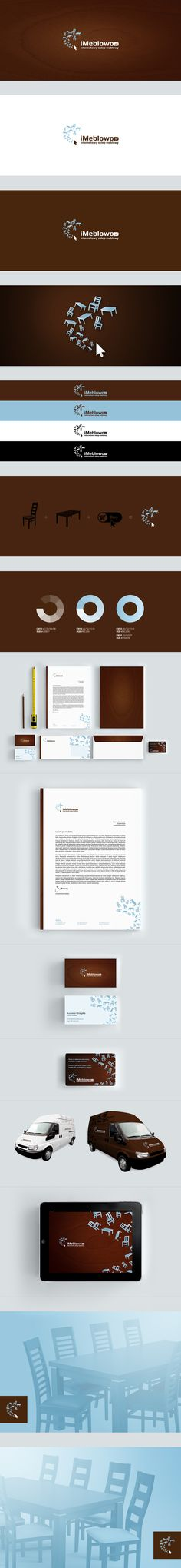 iMeblowo.pl (furniture online shop) - branding by Łukasz Ociepka, via Behance | #stationary #corporate #design #corporatedesign #logo #identity #branding #marketing <<< repinned by an #advertising agency from #Hamburg / #Germany - www.BlickeDeeler.de | Follow us on www.facebook.com/BlickeDeeler