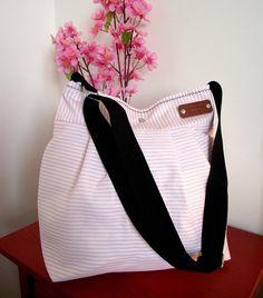 Striped Crossbody Bag Diaper Bag nautical  by liliavaniniboutique