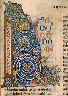 Capital L . Book of Numbers. Lambeth Bible. Lambeth Palace library