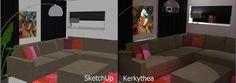 www.sketchupcursus.nl - SketchUp 3D fotorealistische kunstlicht visualisatie, gemaakt met renderprogramma Kerkythea