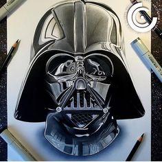 Darth Vader by @chris_clarke_art #darthvader#starwars#forceawakens #kyloren#starwarsart#s#luke by arts_universe_