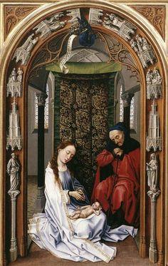 Miraflores Altarpiece: left panel by Rogier van der Weyden #art