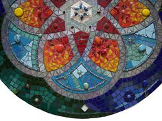 MANDALA FABBIANI Mosaic Mandala by Fernanda Jaton