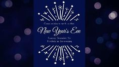 Sparklers invitation celebrate video in navy 'New Years Eve'