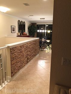 Many home and commercial remodeling projects have been enhanced with Wellington panels. Browse photos of indoor & outdoor designs full of visual appeal. Demis Murs, Faux Panels, Stone Panels, Faux Stone Walls, Add A Room, Pony Wall, Half Walls, Interior Stairs, Stone Veneer
