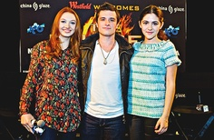 Jackie, Josh, and Isabelle (Foxface, Peeta, and Clove) at their mall appearance.