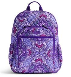 Another great find on Lilac Tapestry Campus Tech Backpack by Vera Bradley Mesh Backpack, Backpack Purse, Vera Bradley Patterns, Trolley Bags, Tapestry Bag, Quilted Bag, Zipper Bags, Vera Bradley Backpack, Sale Items