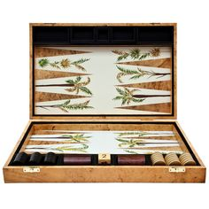 Palm Backgammon Board by Alexandra Llewellyn | From a unique collection of antique and modern games at https://www.1stdibs.com/furniture/more-furniture-collectibles/games/