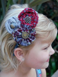 Wee Funky Ones can make hair accessories in the colors of your children's school!