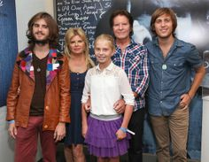 John Fogerty and his wife, Julie Lebiedzinski, and children, Tyler, Shane, and Kelsy Fogerty