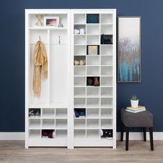 Prepac Winslow Laminate White Space-saving Shoe Storage Cabinet - 20232688 - Overstock - Great Deals on Prepac Other Storage - Mobile