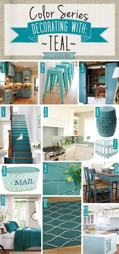 Color Series, Teal Deocor, Teal kitchen bath decor - indoorlyfe.com