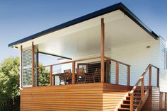 Australian patio and deck featuring the Shademaster insulated roofing with heating and cooling benefits.