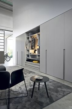 Chair + side table #wardrobes #closet #armoire storage, hardware, accessories for wardrobes, dressing room, vanity, wardrobe design, sliding doors, walk-in wardrobes.s