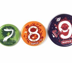 (That's so fu*%ing stupid!) Baby Countdown - Pregnancy Monthly Button Badges Set