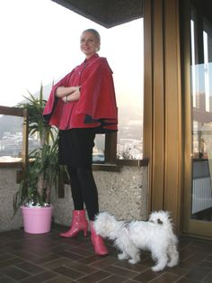 ...this hot pink velvet cape goes nicely in the Barbie section of my wardrobe ;o)
