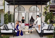 The Charlotte Swing Bed - as pictured in Khloe Kardashians home