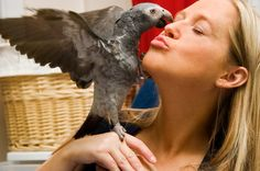 Woman with parrot <3 <3 <3