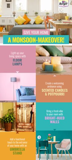bd0bd7c581 Give your home the makeover it needs this season with these amazing decor  tricks. Berger Paints India · Monsoon Decor tips