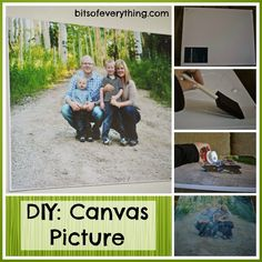 How to make a canvas picture yourself! - Bits of Everything