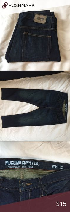 Mossimo NWOT Slim Straight 34 x 32 Droit Brand new perfect condition Mossimo Supply Co Jeans Slim Straight