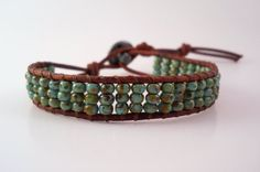 Turquoise Picasso Leather Wrap Bracelet Chan Luu by PZWDesign, $16.50, i really like this