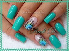Peacock Feather by RadiD from Nail Art Gallery