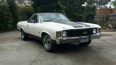 1972 Chevrolet EL Camino UTE ,recent LHD import. There were 2 in Sydney RHD when new.Both 396 ss automatic. 1 White & 1 Yellow.