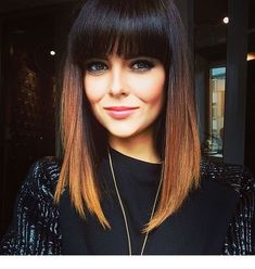 87 unique ombre hair color ideas to rock in 2018 - Hairstyles Trends Haircuts For Long Hair With Bangs, Hairstyles With Bangs, Straight Hairstyles, Brown Ombre Hair, Ombre Hair Color, Medium Hair Styles, Short Hair Styles, Zoella Hair, Hair Color And Cut