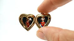 Holy medal pendant of Virgin Mary and Jesus. by VintageLittleGems
