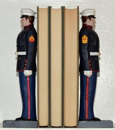 US Marines Bookends