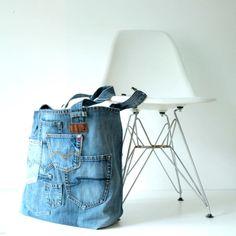 Jeans bag, denim bag, jeans tote bag,beach bag, canvas bag, recycled jeans,denim tote,shopping bag, shopper,handbag, bag, shoulder by Lowieke on Etsy https://www.etsy.com/listing/492384700/jeans-bag-denim-bag-jeans-tote-bagbeach