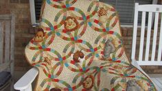 Reversible Jungle Baby Crib Quilt Blanket by BabyQuiltsByVanessa