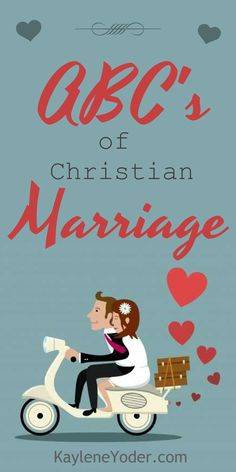 ABC's of Christian Marriage. A relationship steeped in connection and trust is one of the most beautiful things on earth. So much so, that most of us would say there is no meaning, purpose or value in life if we don't have someone to share love, fear, failures and successes with; someone to know and be known by.