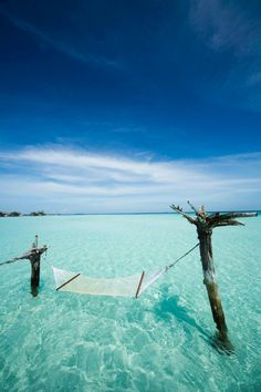 Gili Islands hammock in the water