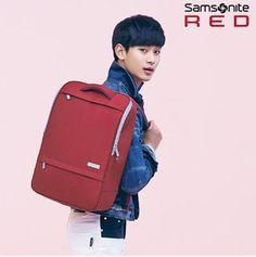 Samsonite RED OBEN BACKPACK_RED My Love from the Star Kim Soo-hyun BACKPACK #SamsoniteRED #Backpack