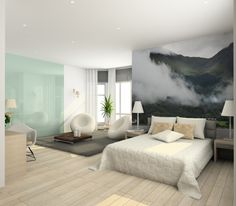 Foggy Mountains in Scotland Wall Mural